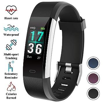 0571f1c2f7d7 ITSHINY Pulsera Actividad Hombre Mujer, Pulsera Actividad Inteligente Reloj  Pulsómetro Impermeable IP68 Podómetro Pulsera Deportiva Reloj Smartwatch ...