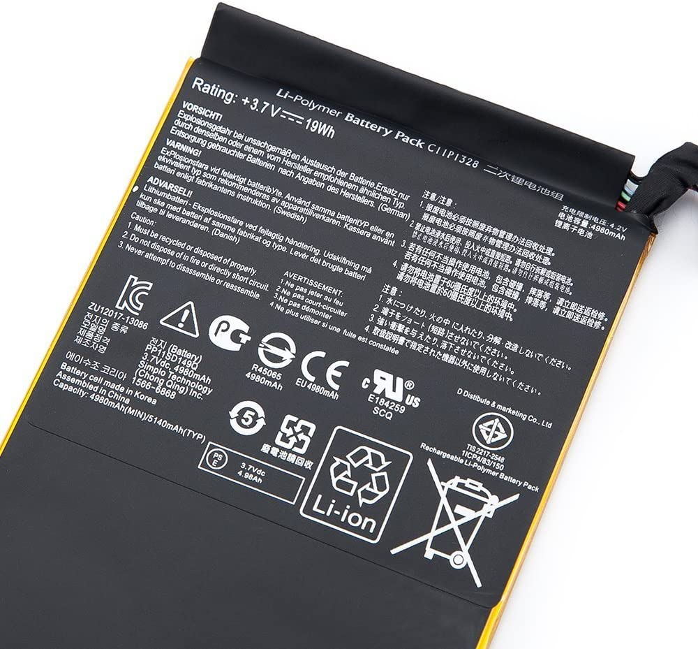 7xinbox 3.7V 19Wh C11P1328 Repuesto Bater/ía para ASUS Transformer Pad TF103C