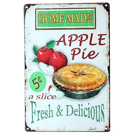 HiSign Apple Pie Retro Cartel de Chapa Coffee Póster Bar ...
