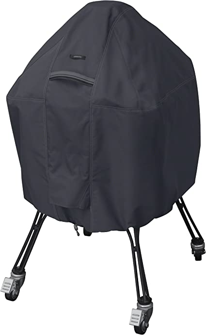 Classic Accessories 55 395 040401 Ec Ravenna Water Resistant 22 Inch Kamado Ceramic Bbq Grill Cover Taupe Large Garden Outdoor
