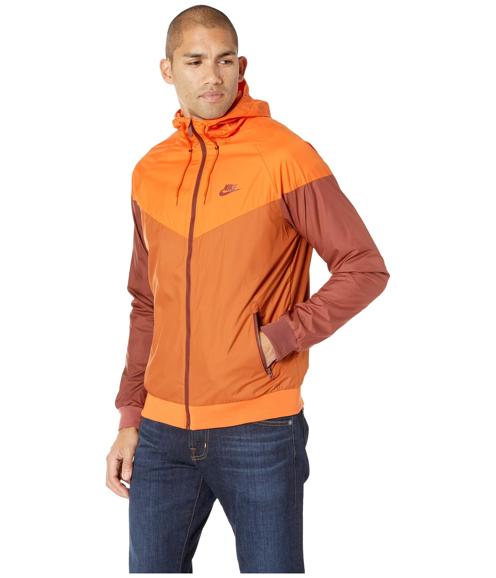 Nike Men's Windrunner Full Zip Jacket (Cmpfre Ornge/Dk Russet/Small) by Nike (Image #3)