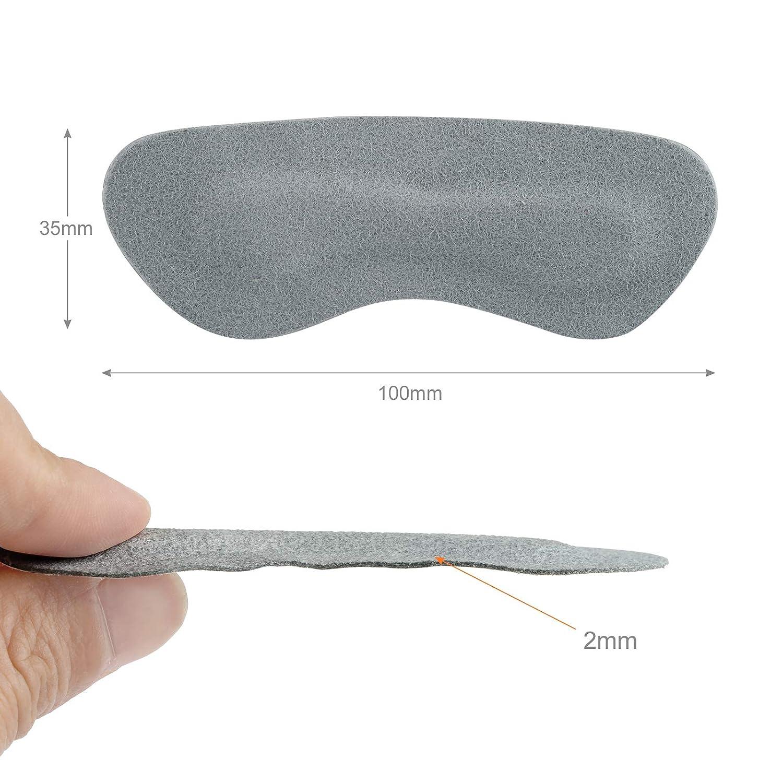 Naler 8/Paires Talon Coussins Talon Chaussure Grips Liner Autocollant antid/érapant Blister pr/évention des Chaussures /à Semelles Gris