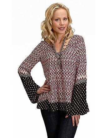 5caa186c Stetson Womens 1588 Border Print Rayon Blouse at Amazon Women's Clothing  store: