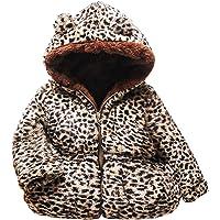 ASHOP Ropa Bebe Otoño Invierno,Ropa de Bebe Niña Niño 2019 Abrigo Chaqueta con Capucha Top Leopardo