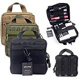 tactique Molle EMT/Kit de premiers secours Medic Pochette utilitaire Organisateur Sac pochette pour sac à dos (Noir)