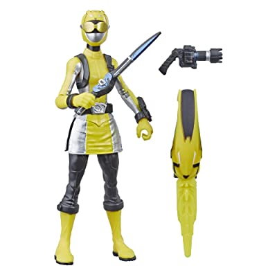 "Power Rangers Beast Morphers Yellow Ranger 6"" Action Figure Toy Inspired by The TV Show: Toys & Games"