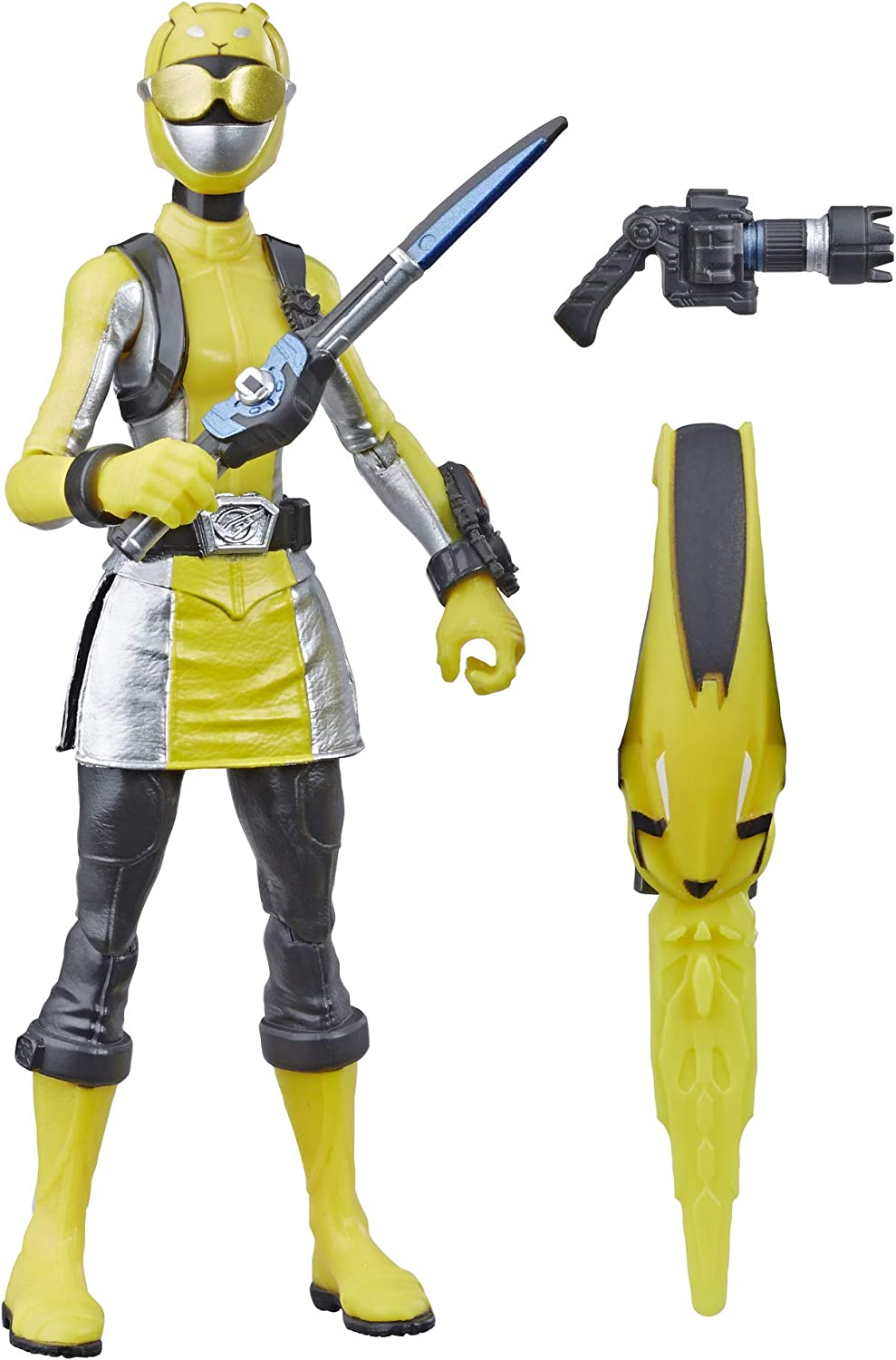 "Power Rangers Beast Morphers Yellow Ranger 6"" Action Figure Toy Inspired by The TV Show"