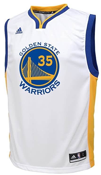 Adidas Kevin Durant Golden State Warriors # 35 NBA Juventud réplica Camiseta Blanco, Blanco