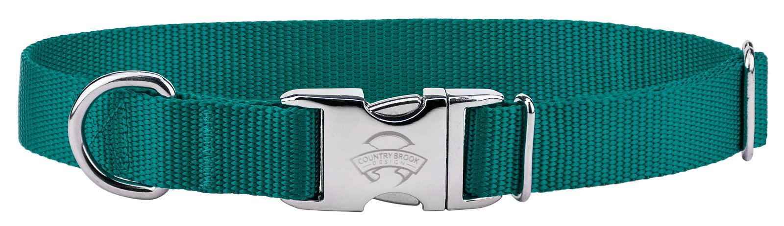 10 - Country Brook Design Premium Nylon Dog Collars - Teal - Extra Small by Country Brook Design (Image #1)