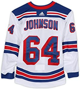 Reese Johnson New York Rangers Game-Used #64 White Jersey from the 2018-19 NHL Preseason - Size 56 - Game Used NHL Jerseys