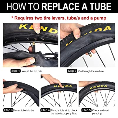 "4-PCS 26/"" inch Inner Bike Tube 26x1.75-2.125 Bicycle Butyl Rubber Tire Interior"