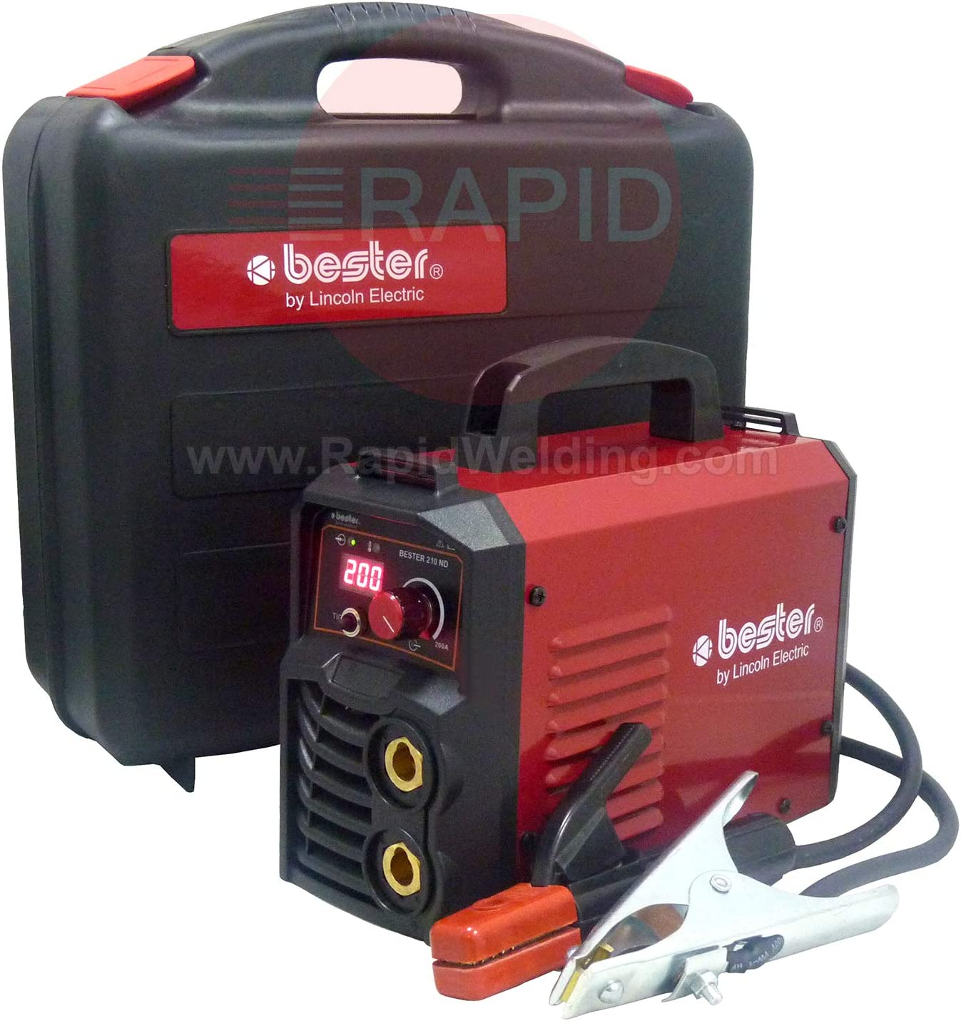 Lincoln Bester 210-ND MMA Inverter Arc Welder Suitcase Package 1ph ...