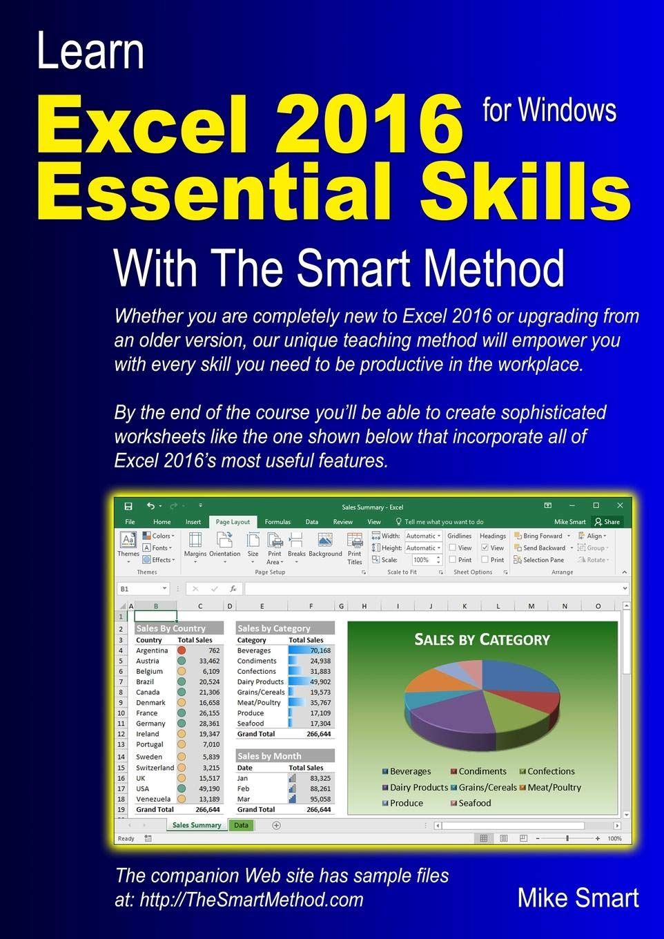 Download Learn Excel 2016 Essential Skills with The Smart Method: Courseware tutorial for self-instruction to beginner and intermediate level PDF