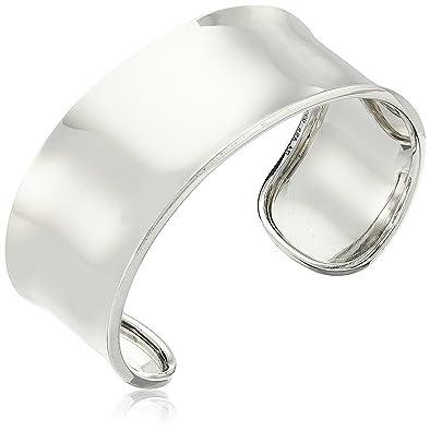 921cfa58dbd Amazon.com: Sterling Silver Wide Polished Cuff Bracelet, 2.5