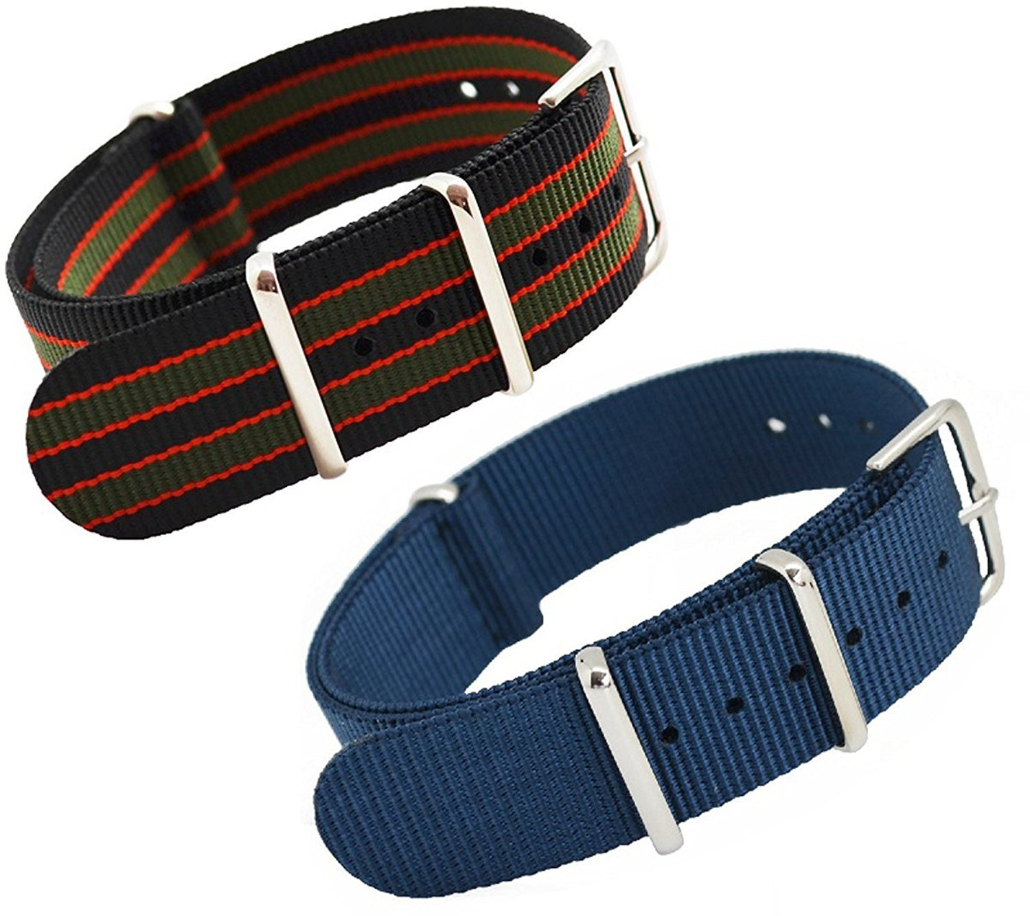 37f37bc7336 navy blue Black Orange Army Green   MetaStrap 20mm Nylon Watch Band NATO  Strap  Amazon.in  Beauty