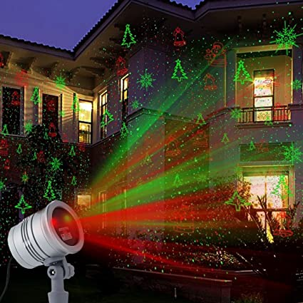 Christmas Projector Lights, MaLivent Waterproof Laser Lights with Red and Green Laser Light Galaxy Show Spotlight