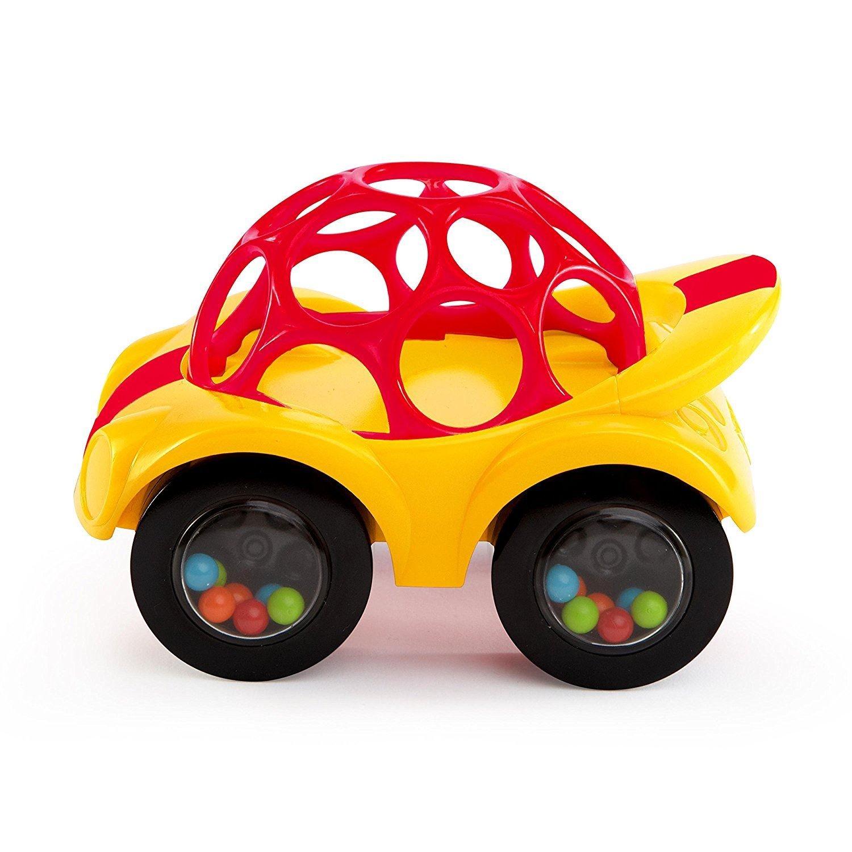 Oball Rattle & Roll Car - Rojo y Amarillo (Se distribuye desde el Reino Unido)