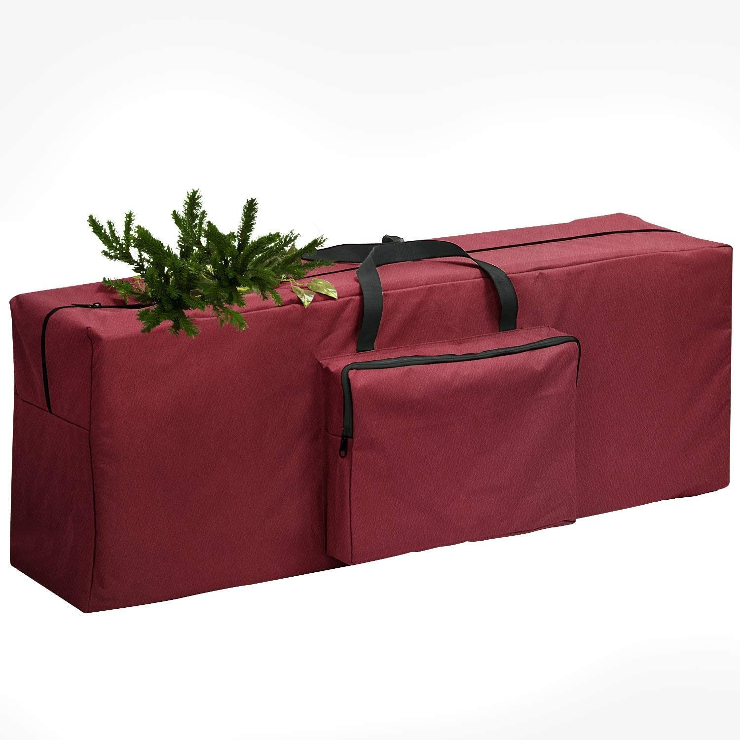 wiland Christmas Tree Storage Bag,Christmas Tree Bag with External Pockets for Wreath Storage Container Artificial Trees Christmas Holiday Decor,Durable Xmas Bag-Tear Proof Premium 600D Oxford