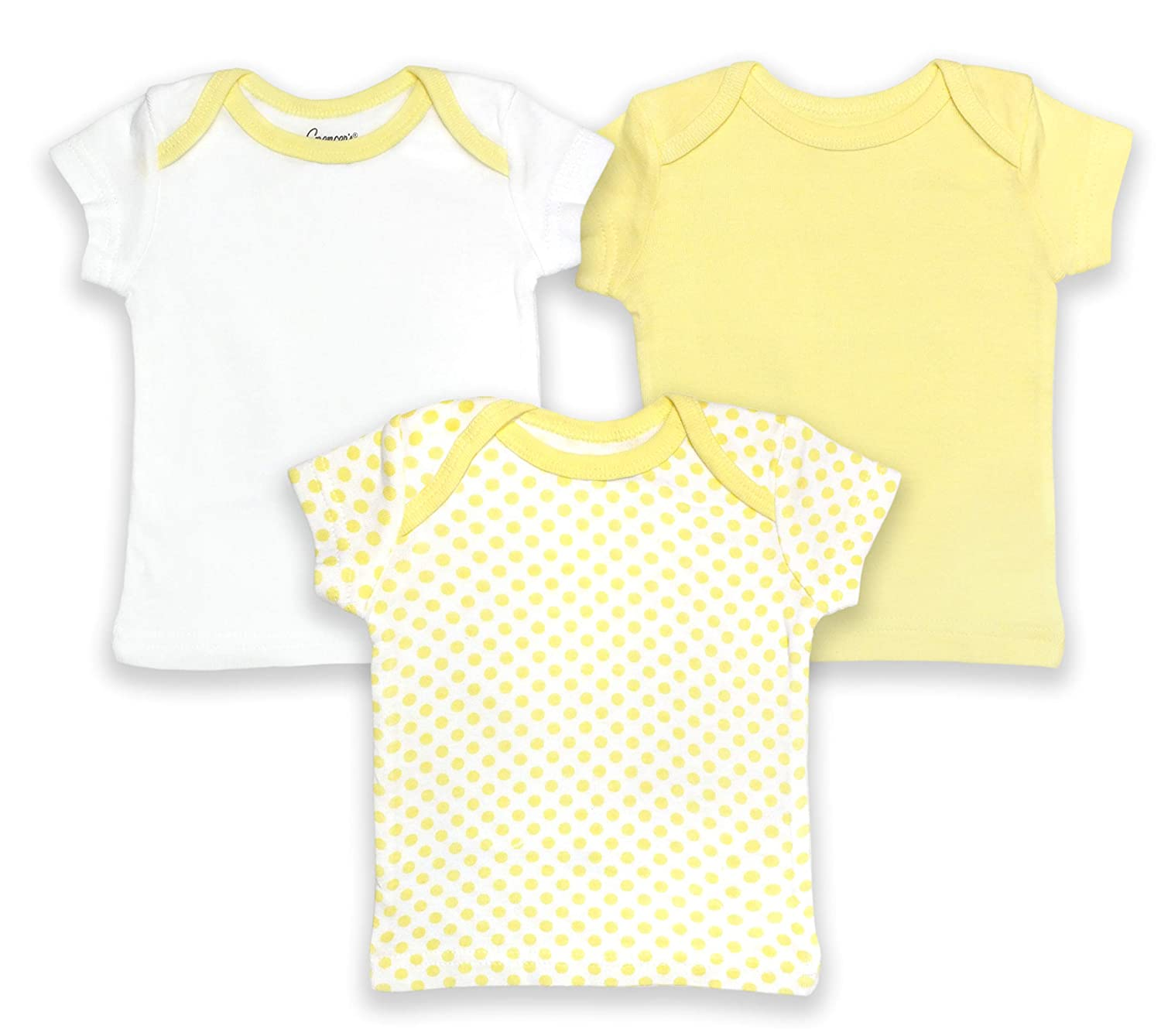 "Spencers /""Classic Pastels/"" Girls Lap Shoulder Shirts 3-Pack"