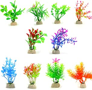 COMSUN 10 Pack Artificial Aquarium Plant