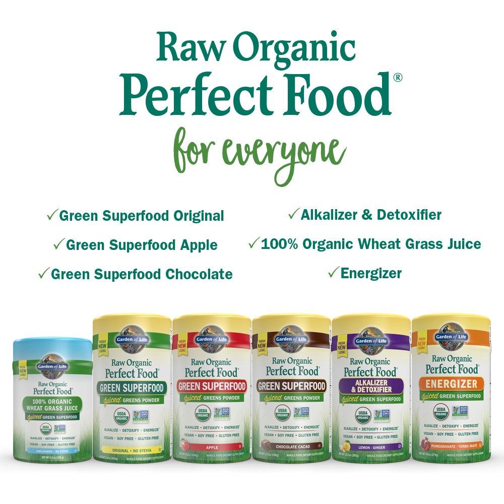 Garden of Life Vegan Green Superfood Powder - Raw Organic Perfect Whole Food Dietary Supplement, Original, 7.4oz (209g) Powder by Garden of Life (Image #10)