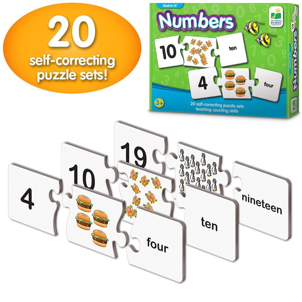 Amazon the learning journey match it counting self amazon the learning journey match it counting self correcting number learn to count puzzle toys games ccuart Gallery