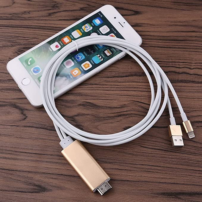 1080P HDMI HDTV AV Cable Adaptador para iPhone 5 5S 6 6S 7 Plus ...