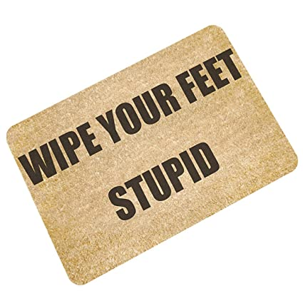 Amazon Com Pinji Funny Doormat Wipe Your Feet Non Slip Decorative