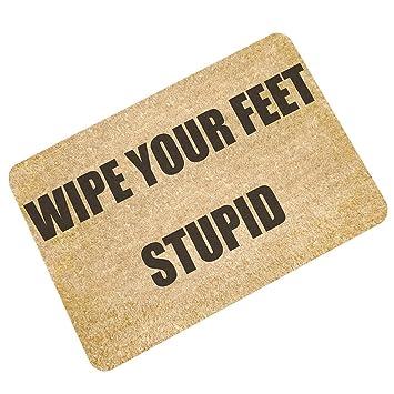 Amazon Com Pinji Funny Doormat Wipe Your Feet Non Slip Decorative