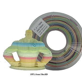 Stronghero3D filamento PLA de impresión 3D, 1,75 mm, multicolor de ...