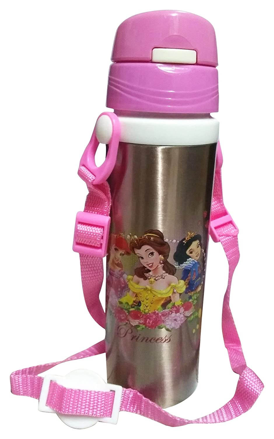 Buca Stylish Stainless Steel Insulated Water Bottle With Straw For Thermos Mini Carakter 500 Ml Kids 500ml Pink Toys Games