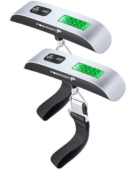 Escala de equipaje digital (2 paquetes), Fosmon escala de pesaje de equipaje digital