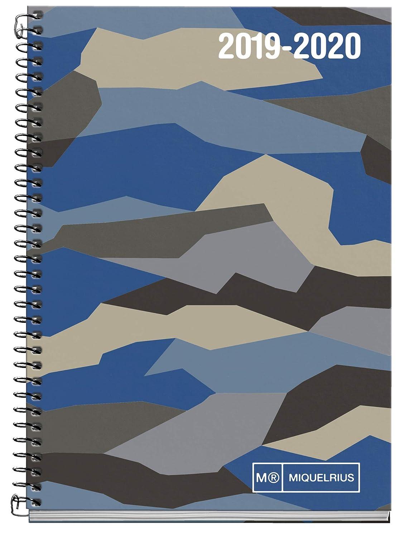 Miquelrius agenda escolar con espiral 2019 2020 día página street art español 117x174 mm