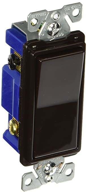 Eaton 7504B 15 Amp 4Way Rocker Decorator Switch Brown Amazoncom