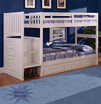 Amazon Discovery World Furniture White Staircase Bunk Bed
