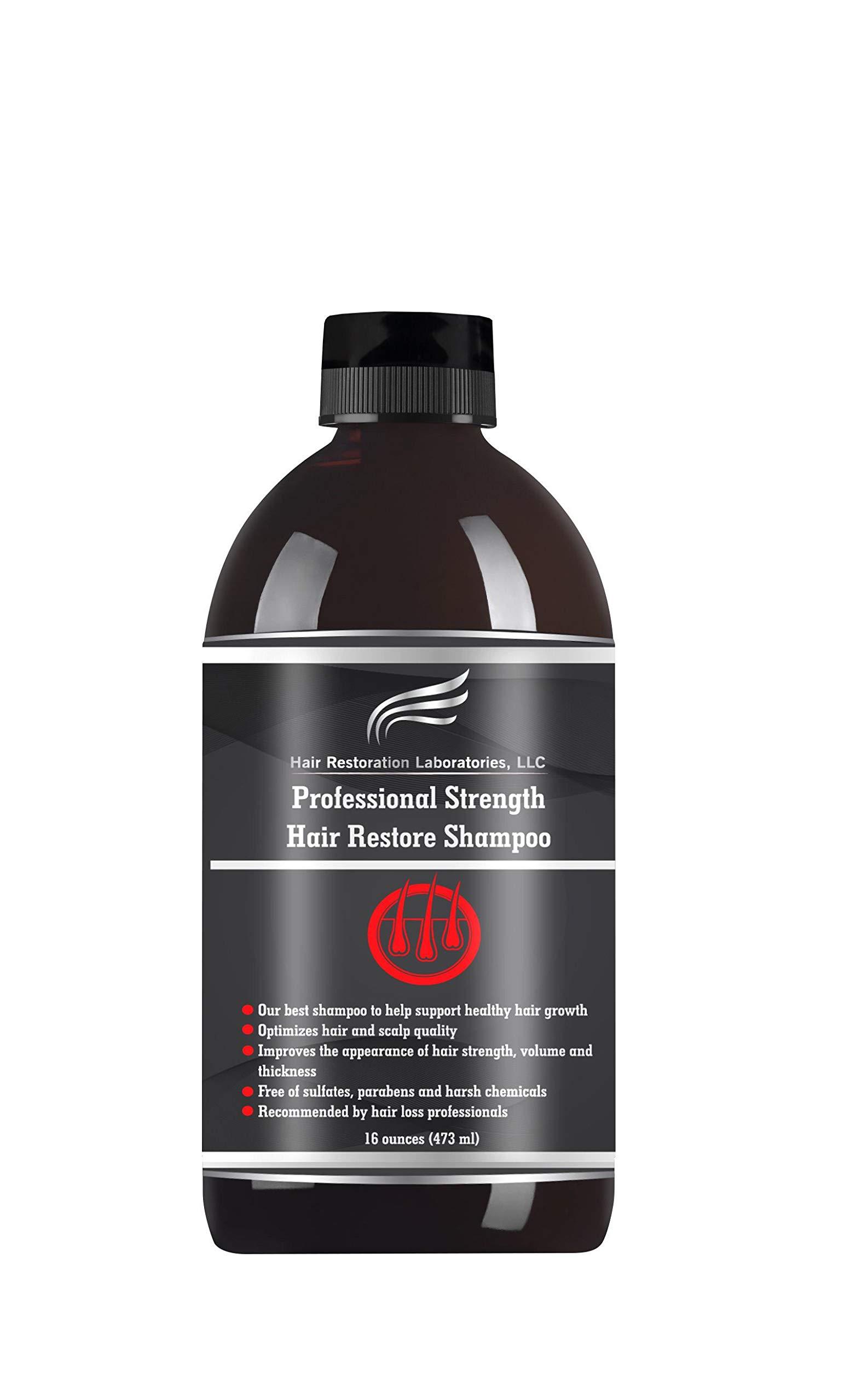 HAIR RESTORATION LABORATORIES' 2019 PROFESSIONAL STRENGTH DHT BLOCKING HAIR LOSS SHAMPOO: STRONGEST HAIR REGROWTH SHAMPOO FOR MEN & WOMEN/OVER 20 DHT BLOCKERS by Hair Restoration Laboratories, LLC