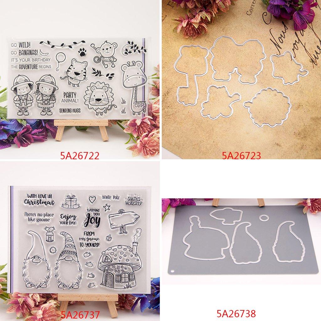 15 x 12,5 cm decorazioni album fotografico Dabixx chiusura per lavori fai da te fogli con timbri trasparenti in silicone