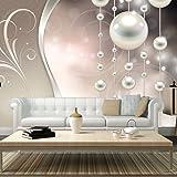 murando - Fototapete 350x256 cm - Vlies Tapete - Moderne Wanddeko - Design Tapete - Wandtapete - Wand Dekoration - Abstrakt Ornament Perlen f-A-0170-a-b