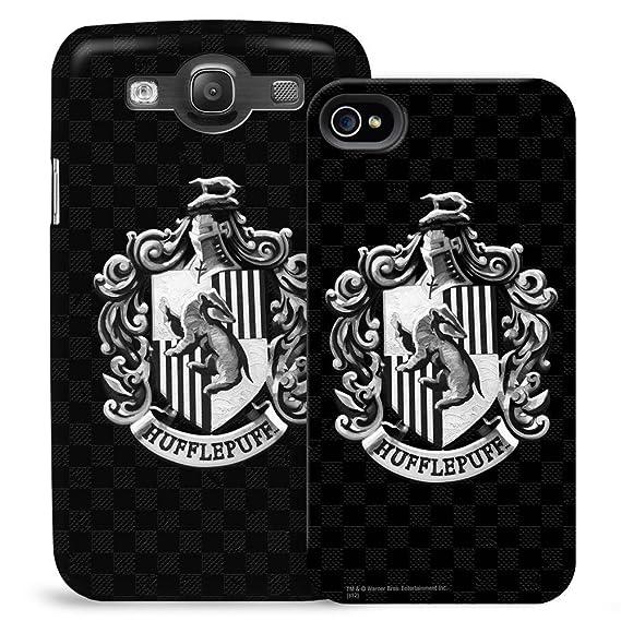 Harry Potter Hufflepuff En Blanco Y Negro Escudo Teléfono Móvil