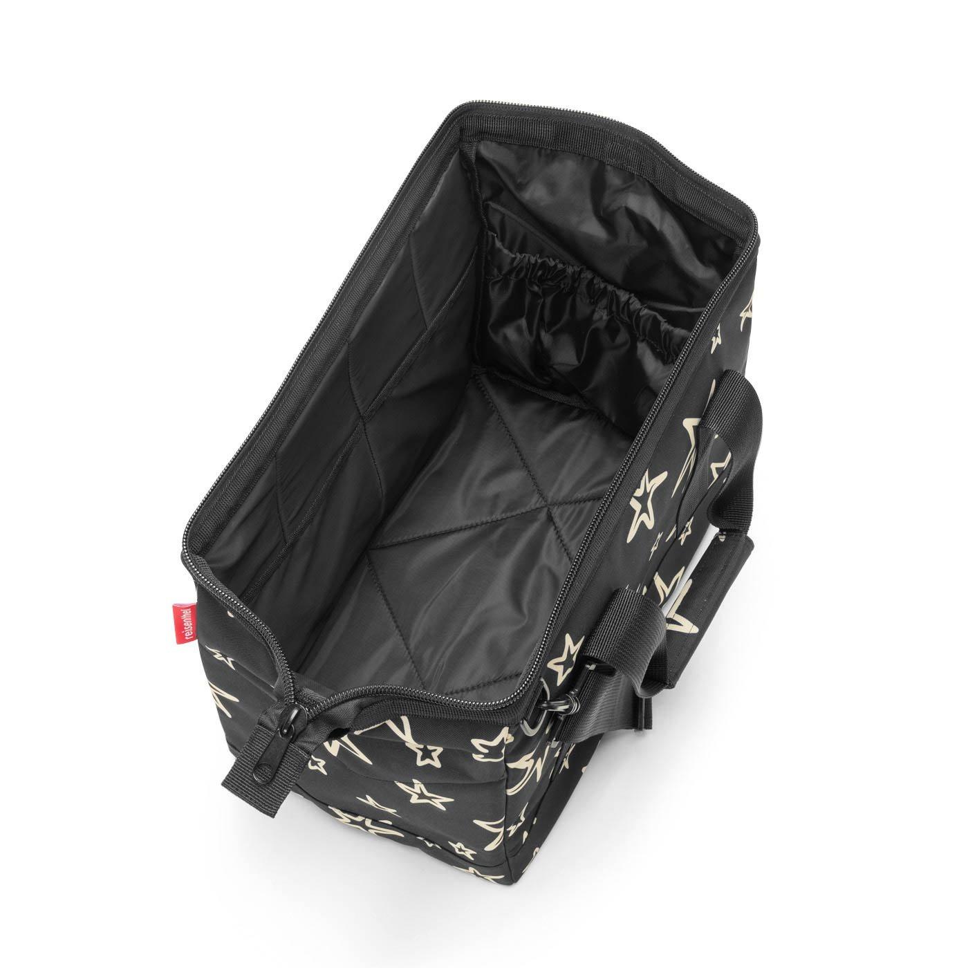 Versatile 6-Pocket Padded Duffel reisenthel Allrounder M Medium Weekender Bag Black