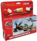 Airfix 1:72 North American P-51d Mustang Military Aircraft Gift Set