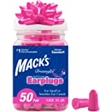 Mack's Dreamgirl Soft Foam Earplugs, 50 Pair, Pink - Small Ear Plugs for Sleeping, Snoring, Studying, Loud Events…
