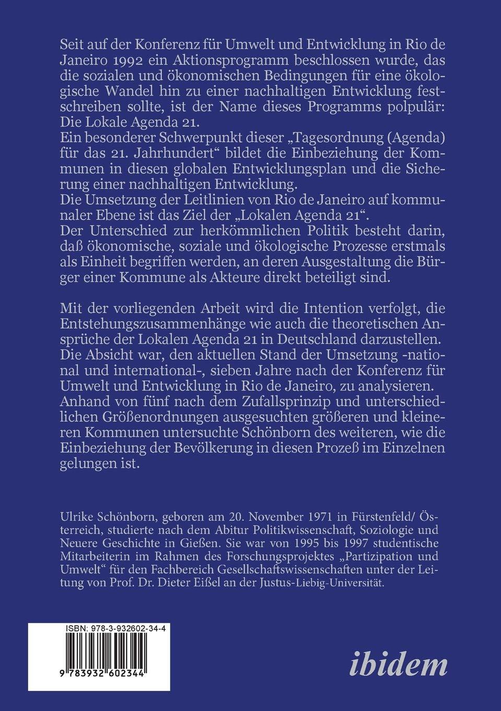 Lokale Agenda 21. (German Edition): Ulrike Schönborn ...
