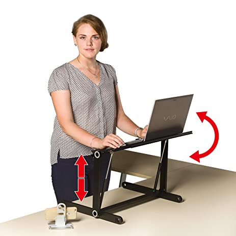 Amazoncom New Adjustable Standing Desk adjustable Stand up Desk