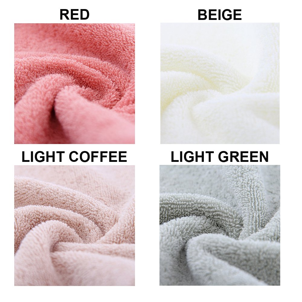 3-Piece Towel Set-Long-staple Cotton for Home or Spa (Light Coffee)