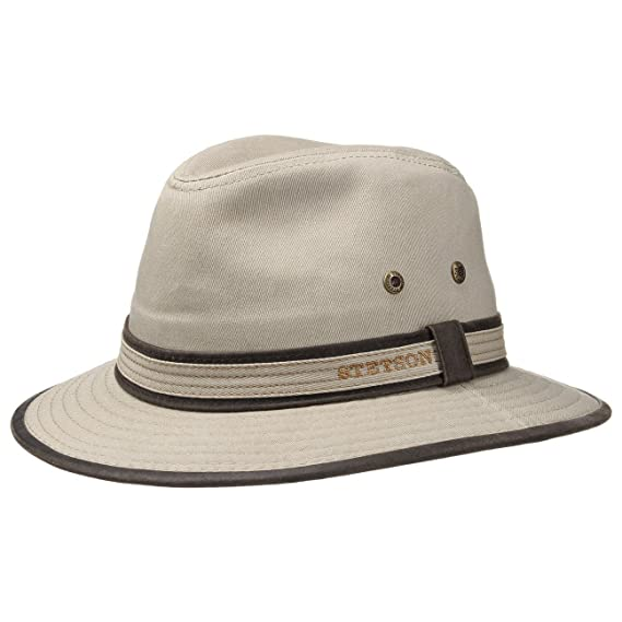 6c41d6fa840 Stetson Ava Cotton Protective Sun Hat Summer Hat Cotton Hat  Amazon.co.uk   Clothing
