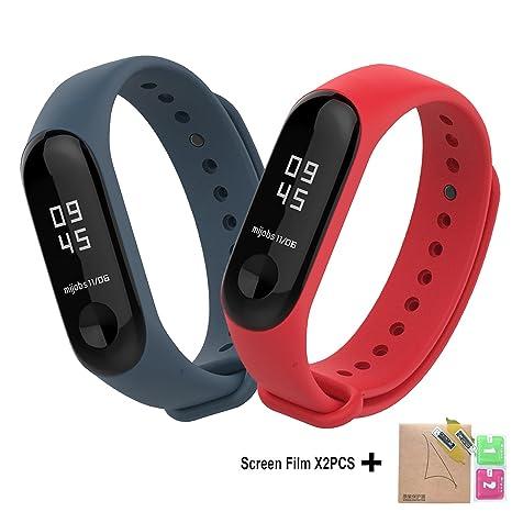 BDIG - Correas de Repuesto para Reloj, Colorido suave silicona pulsera impermeable, Diseño de