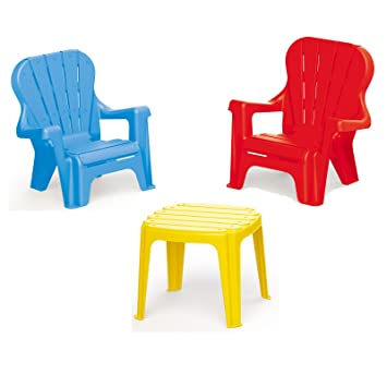0107 Kindertisch Picknick Tisch Kinderzimmer Sitzgruppe Garten Stuhl