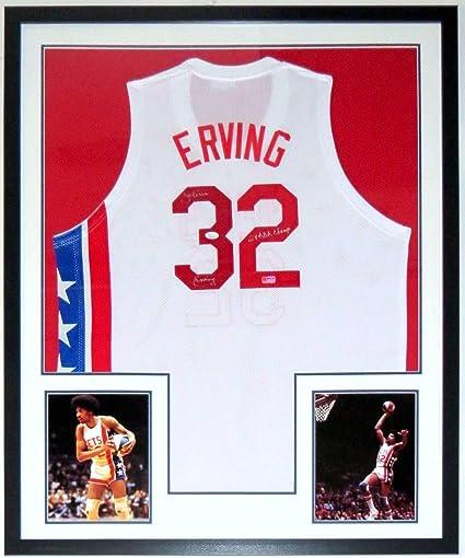 info for f5169 f4c12 Julius Erving Autographed Signed Memorabilia Nets Jersey JSA ...