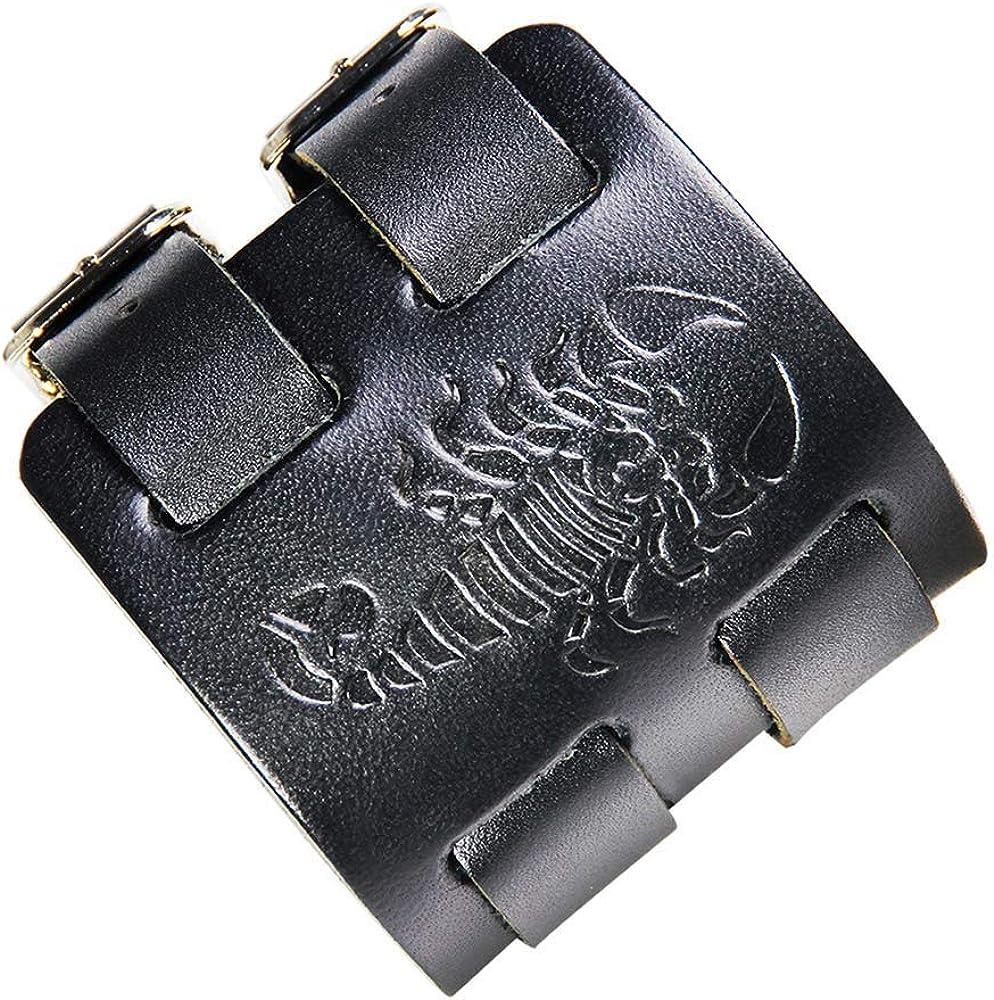 crintiff - Leather Scorpion Wristband Bracelet for Men